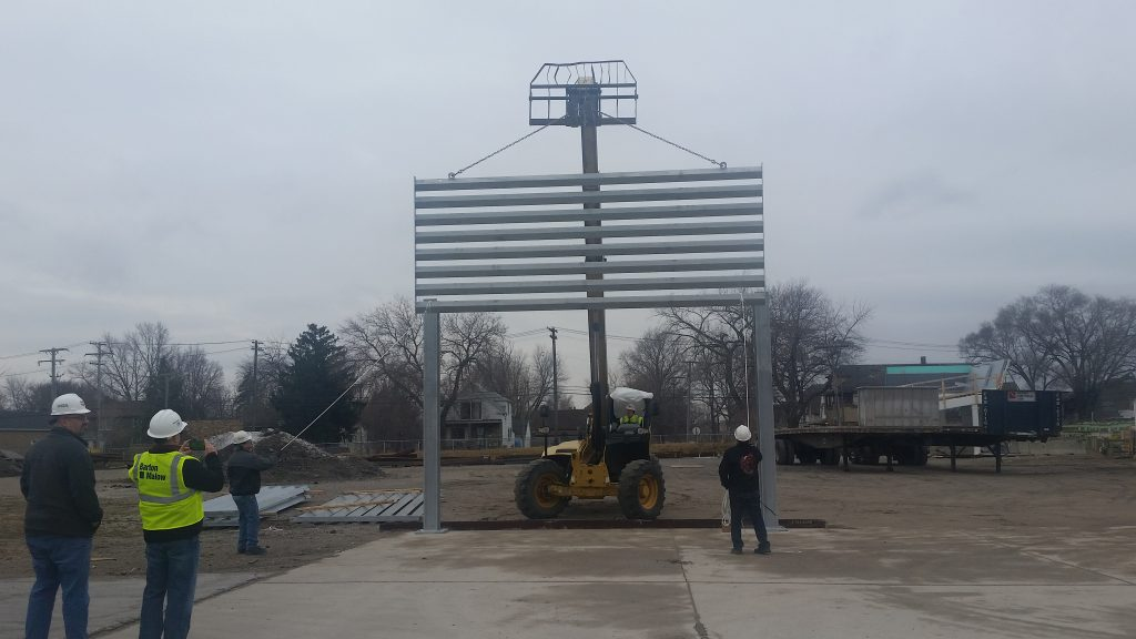 First Ideal Utility Services ballistic barrier test installation in Detroit, MI