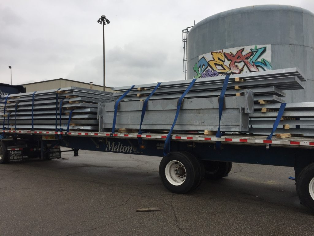 Ideal Shield's ballistic barrier being shipped