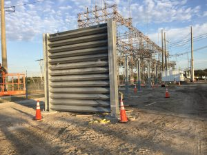 Ideal Utility Services ballistic barrier being installed in Florida
