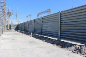 Ideal Utility Services US Steel ballistic barrier in Tampa, Florida