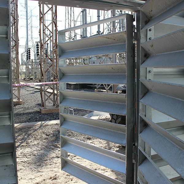 Ideal Utility Services ballistic barrier\u0027s custom entrance door & barrier-door-crop7 | Ideal Utility Services