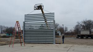 Ideal Utility Services ballistic barrier installation in Detroit, Michigan
