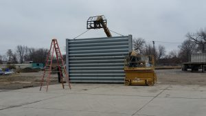 Ideal Utility Services ballistic barrier installation in Detroit, Michigan