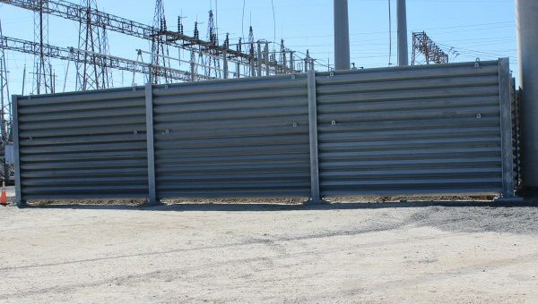 Substation Protected by Ballistic Barrier