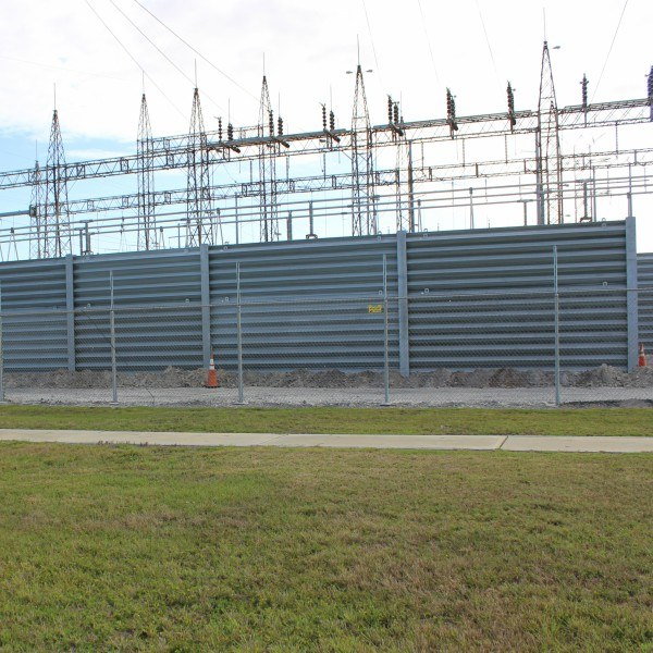 ballistic barrier substation protection