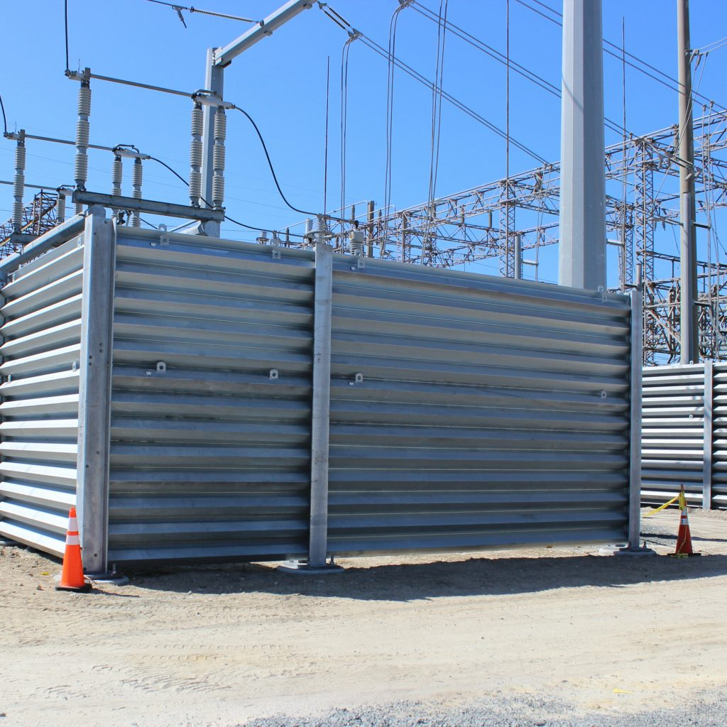 substation protection with ballistic barriers